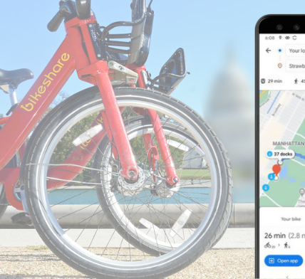 Google Maps adds new features for bikeshare users - Appy Pie